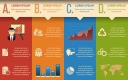 Negocios Plantilla de Infographic o bandera gradual del sitio con los iconos integrados libre illustration