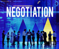Negocjacja kompromisu Kontraktacyjnej zgody decyzi pojęcie Obraz Royalty Free