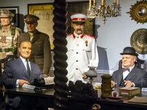 Negocjacja mężów stanu usa, Zjednoczone Królestwo, świat wojna II zdjęcie stock