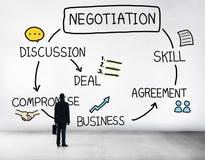 Negocjacja współpracy dyskusi współpracy kontrakt Concep obrazy stock