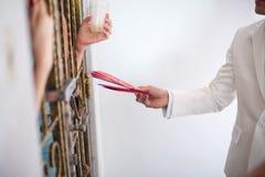 Negocjować przy drzwi Obrazy Royalty Free