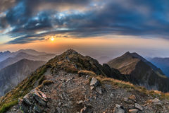 The Negoiu Peak. Fagaras Mountains, Romania Royalty Free Stock Photography