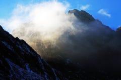 Negoiu peak hiding in the clouds Stock Photography