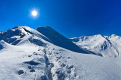 Negoiu peak in winter Royalty Free Stock Images