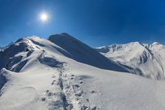 Negoiu Peak in winter Royalty Free Stock Photography