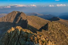 Negoiu szczyt. Fagaras góry, Rumunia Fotografia Stock