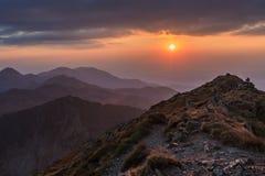 Negoiu szczyt. Fagaras góry, Rumunia Zdjęcie Royalty Free