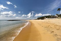 Negombo海滩,斯里兰卡 库存照片