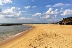 Negombo海滩,斯里兰卡 免版税图库摄影