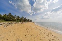 Negombo海滩,斯里兰卡 免版税库存图片