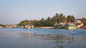 Negombo盐水湖,斯里兰卡 免版税库存图片