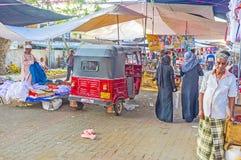 Negombo衣裳市场  免版税库存图片