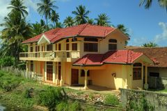 Negombo,斯里兰卡-议院 免版税库存图片