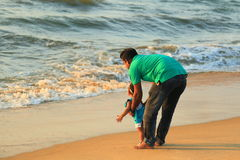 Negombo Beach in Sir Lanka Stock Photography