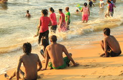 Negombo Beach in Sri Lanka Royalty Free Stock Photo