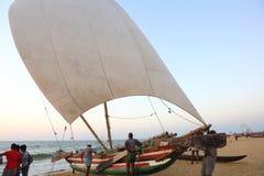 Negombo Beach in Sri Lanka Stock Image