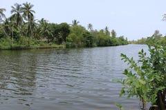 Negombo lagun Sri Lanka Royaltyfria Bilder