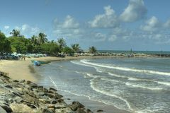 Negombo, Sri Lanka - Straßenansicht - Ziegen Stockbild