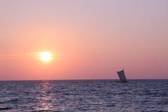 Negombo strand i Sri Lanka Arkivbild