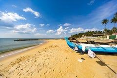 Negombo strand på Sri Lanka royaltyfri bild