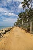 Negombo strand på Sri Lanka Arkivfoton