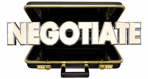 Negotiate Briefcase Sale Deal Agreement Terms Royalty Free Stock Images