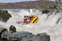 Negotiating Hell's Gate in the Gariep River (Orange River), Sout Royalty Free Stock Images