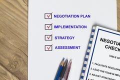Negotiation checklist Stock Image