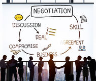 Negotiation Cooperation Discussion Collaboration Contract Concep Royalty Free Stock Photography