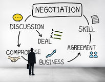 Negotiation Cooperation Discussion Collaboration Contract Concep. T stock images