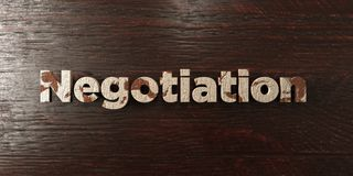 Negotiation - grungy wooden headline on Maple  - 3D rendered royalty free stock image Royalty Free Stock Image