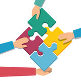 Negotiation team work flat icons Stock Image