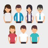 Negotiation team work flat icons. Vector illustration design Stock Photo