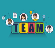 Negotiation team work flat icons Royalty Free Stock Image