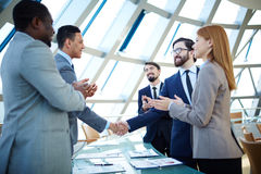 After negotiations Stock Photography