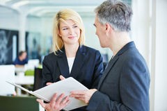 Negotiations in office lead Royalty Free Stock Photo