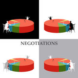 Negotiations. Picture illustrated negotiations between people Stock Photography