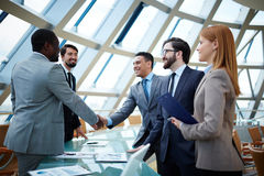 After negotiations Royalty Free Stock Photos