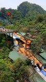 Negozi alla caverna della pagoda del profumo, Hanoi, Vietnam Fotografia Stock
