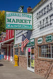Negozi alla via principale Bridgeport, California Immagine Stock Libera da Diritti