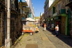 Negozi che si aprono nei Caraibi Fotografia Stock Libera da Diritti