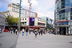 Negozi del centro urbano, Birmingham immagini stock