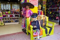 Negozi di ricordo messicani, caraibici Immagine Stock