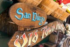 Negozi di specialità del mercato di Città Vecchia, San Diego, California fotografia stock