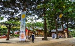 Negozi in Nami Island, Corea fotografie stock libere da diritti