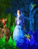 Negoziando con il Fairy di inverno Fotografie Stock Libere da Diritti