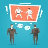 Negoziati degli uomini d'affari illustrazione vettoriale