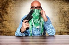 Negoziatore del terrorista Fotografia Stock Libera da Diritti