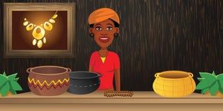 Negozio africano royalty illustrazione gratis