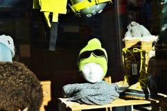 Negozio in alpi svizzere, La Tzoumaz dello sci Fotografie Stock Libere da Diritti